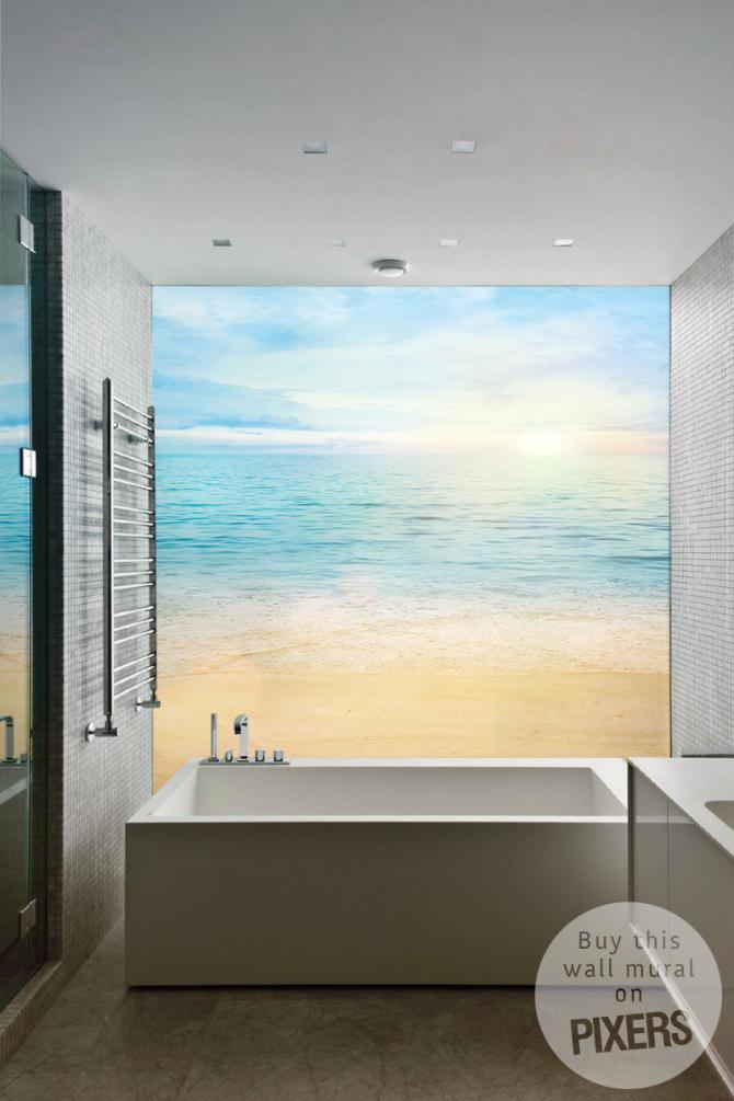 Bathroom wall murals