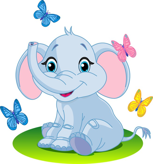 18L Cartoon Elephant Sprinkling Watering CanBlue