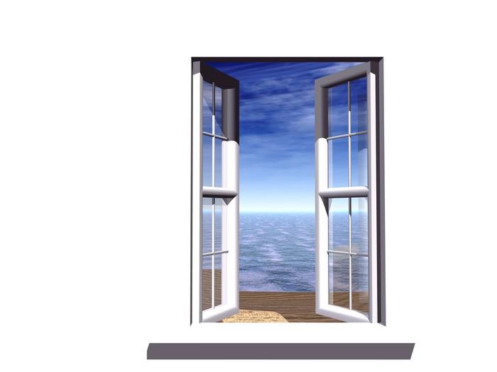 Open window winter