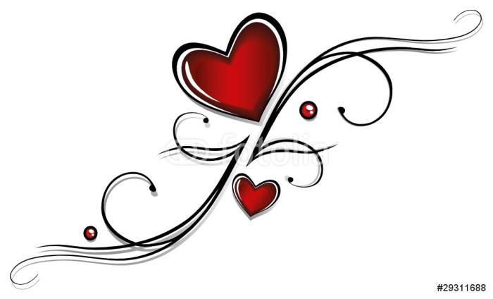 Valentinstag, Valentin, Herz, Herzen, Liebe, love Wall Mural ...