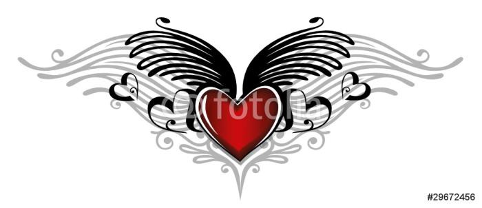 Valentinstag, Valentin, Herz, Flügel, Liebe, love Wall Mural ...