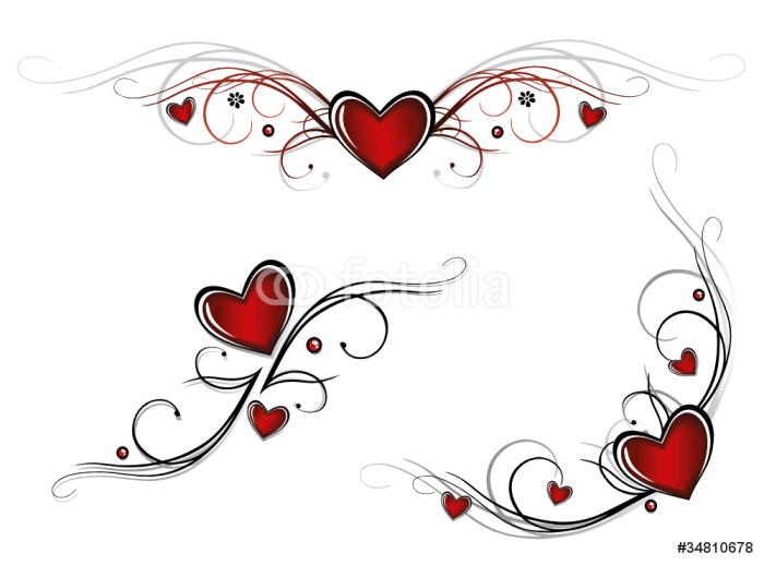 Herz, Liebe, love, Valentinstag, vector set Wall Mural • Pixers ...