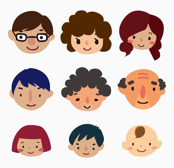 Семья рисунок на голове