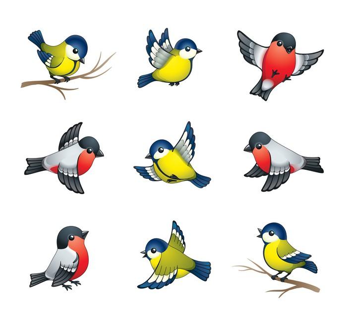 Рисунок птицы в пол те