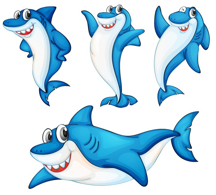 Акула в рисунках картинках