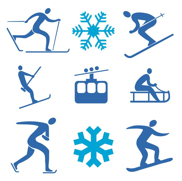 Winter sports drawing