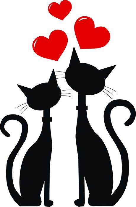 Две кошки рисунки