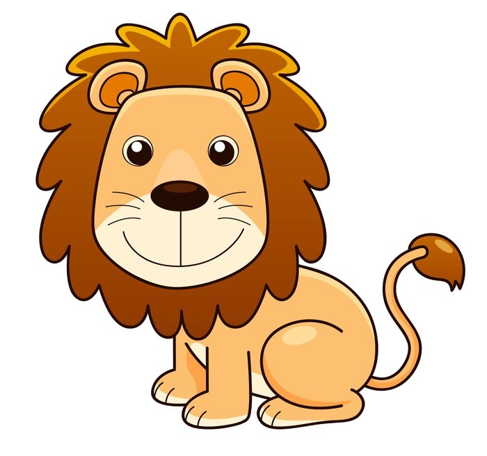 Lion cartoon head
