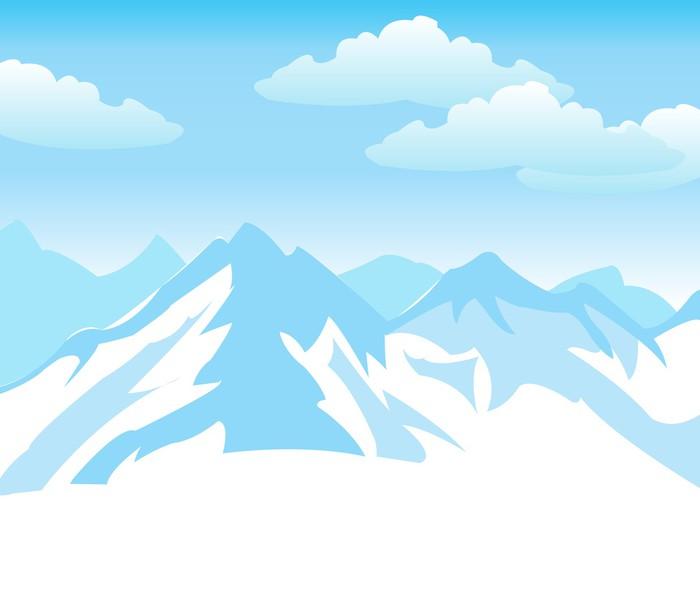 Как нарисовать снег в горах