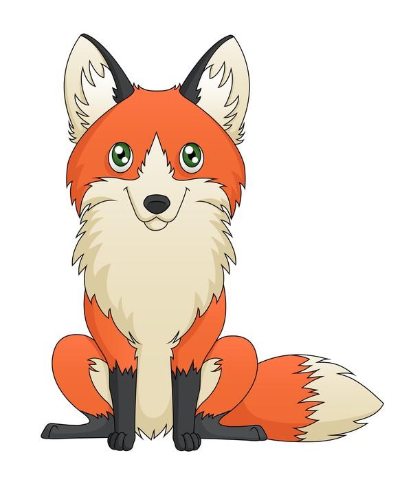 Рисунок сидячего лисы