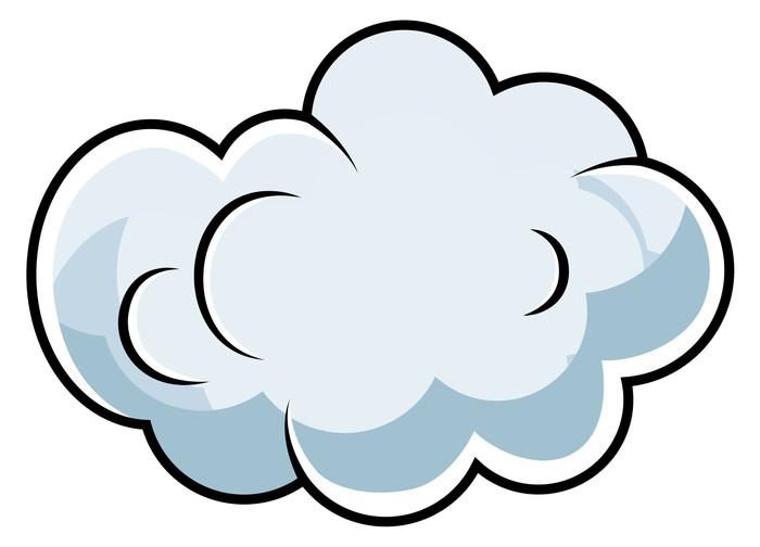 Classic cartoon fight cloud
