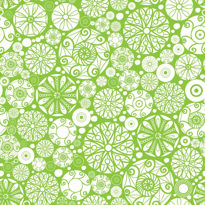 Green flower pattern design