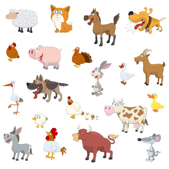 Domestic animals clipart