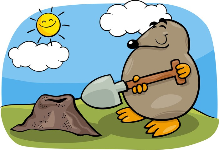 Mole animal clipart