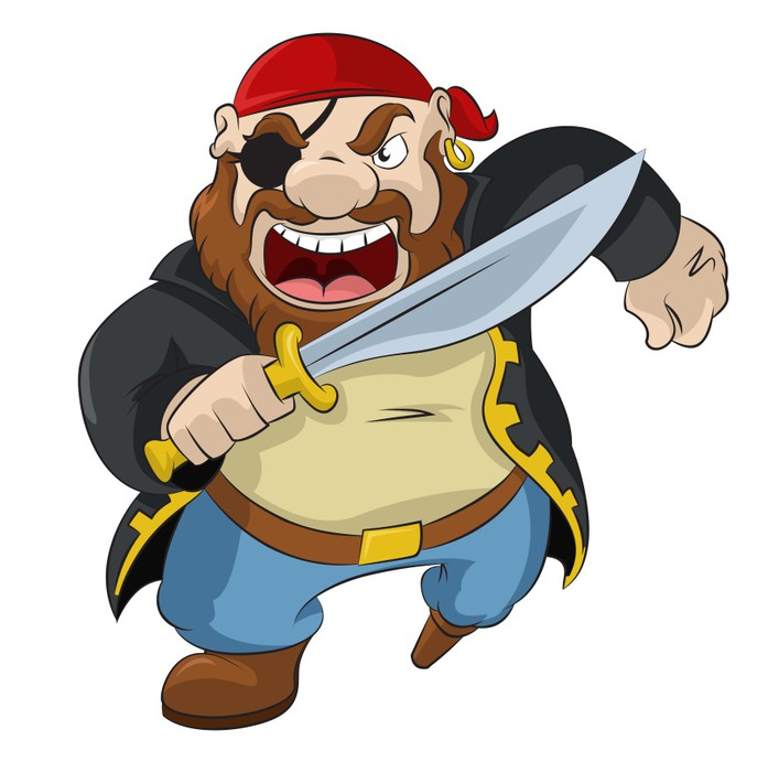 Cartoon pirate sword