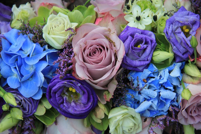 Purple and blue bouquet