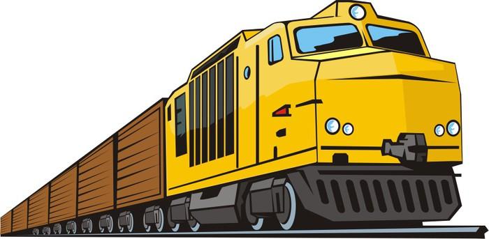 Грузовые поезда рисунок