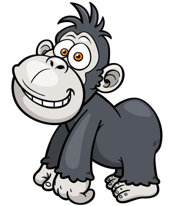 Cute gorilla baby cartoon