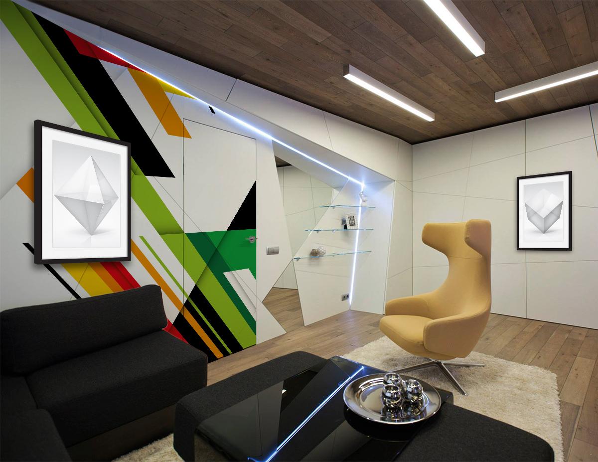 Murs transparents futuriste pour bureau pixers for Bureau futuriste