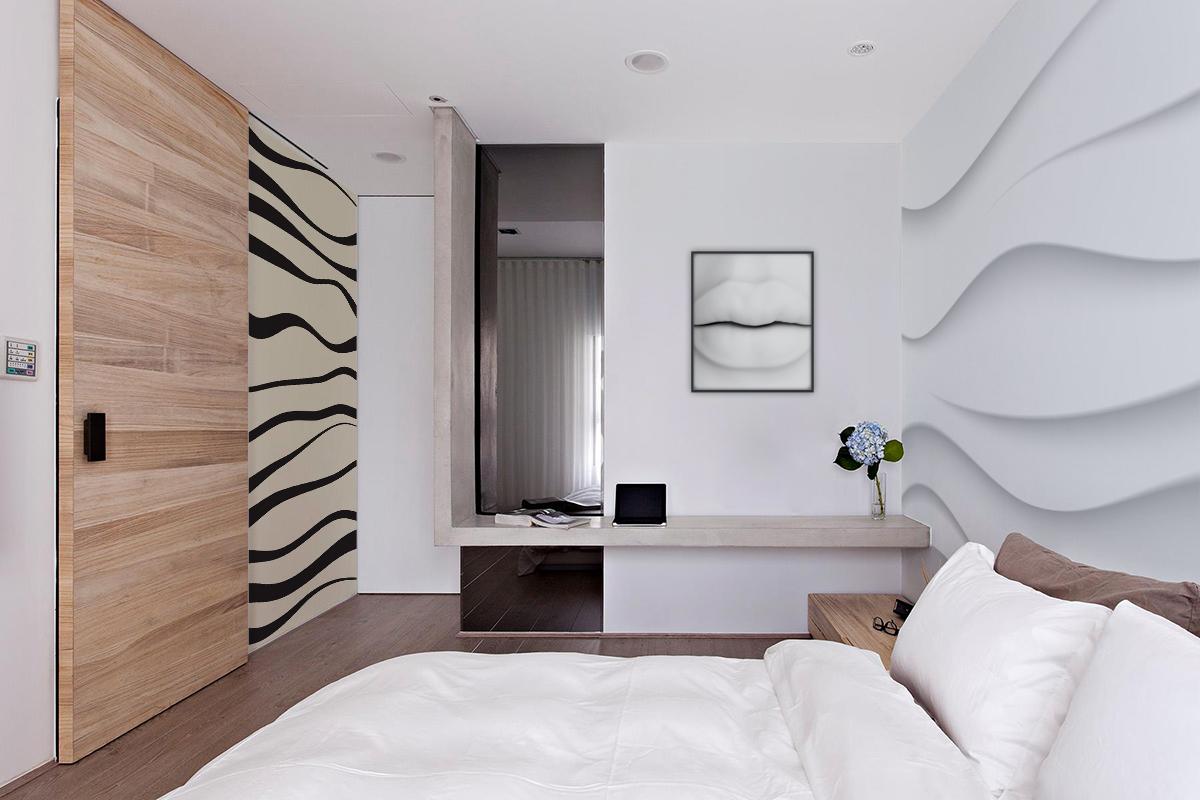 Labbra femminili contemporaneo per camera da letto - Poster per camera da letto ...
