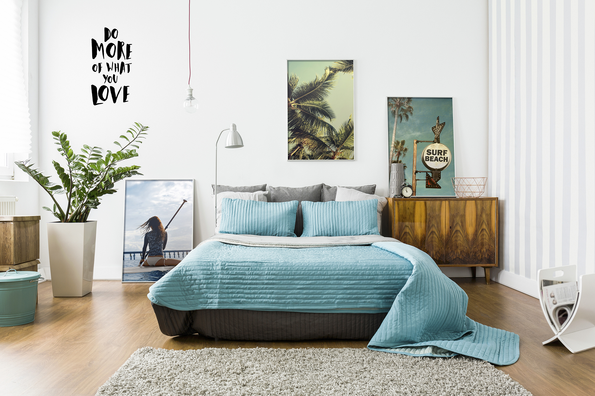 Lets surf • Bedroom - Eclectic - Art & lifestyle - Landscapes - Posters - Stickers