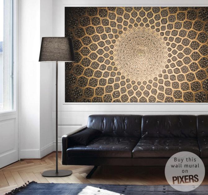 orientalische ornamente aus isfahan wohnzimmer. Black Bedroom Furniture Sets. Home Design Ideas