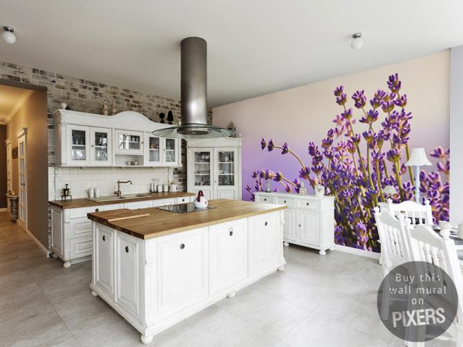 Lavendel-Küche • Provenzalisch - Küche • Pixers® - Wir leben, um ...