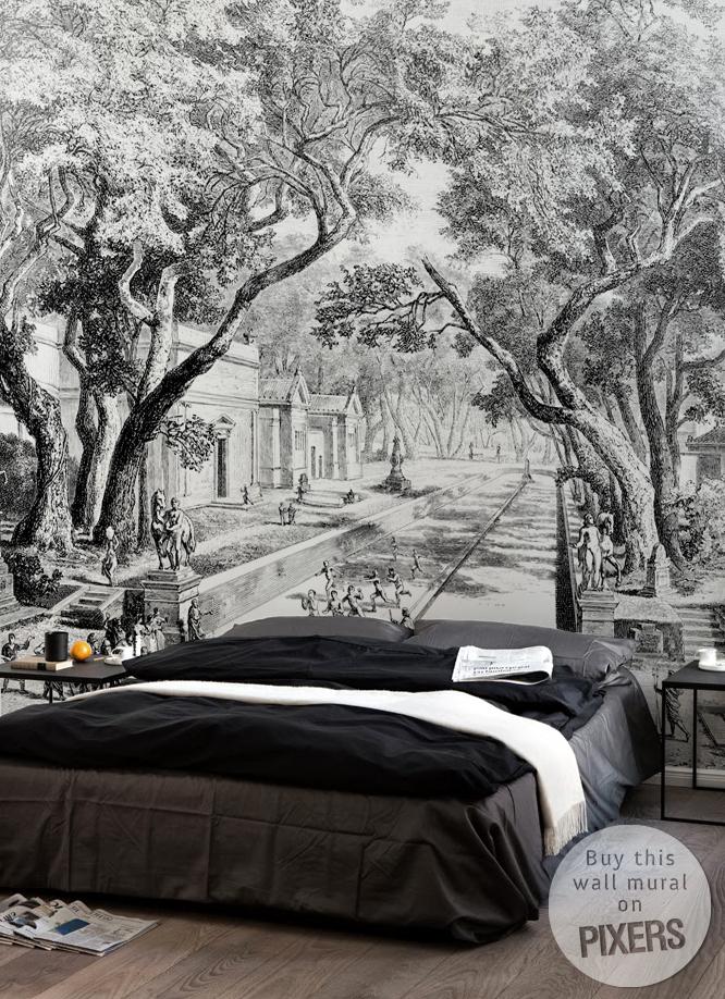 Croquis arbre contemporain pour chambre coucher - Croquis arbre ...
