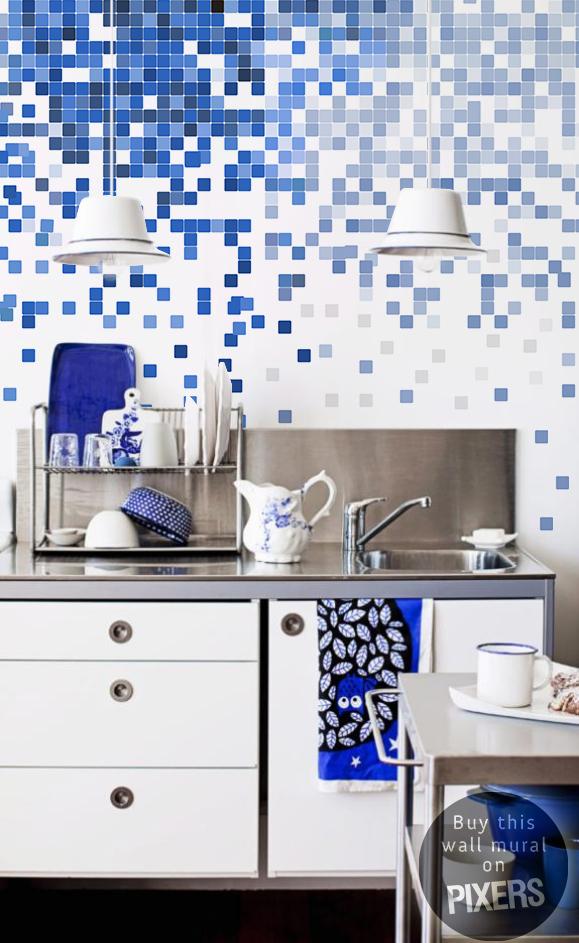 P xeles para la cocina contempor neo pixers vivimos para cambiar - Fotomurales pixel ...