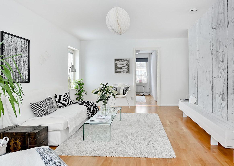 Birkenrinde skandinavisch wohnzimmer fototapeten - Poster wohnzimmer ...