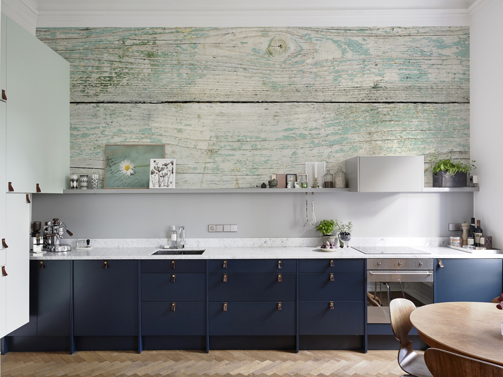 Fancy Wood • Kitchen - Colonial - Wall Murals - Posters - Nature - Flowers  and plants • Pixers® • We live to change