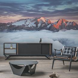 Wall Mural Living Room - Mountain Marmolada at sunset in Italy dolomites at summer