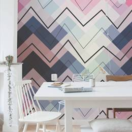 Wall Mural Kitchen - Geometric chevron pattern