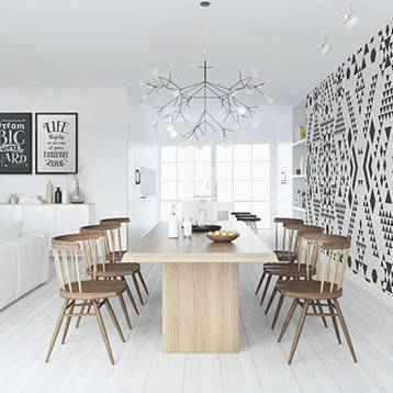 Wall Mural & Posters Dining Room - Scandinavian Style