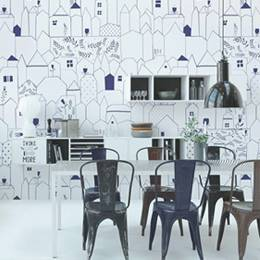 Wall Mural & Stickers Kitchen - Subtle Patterns
