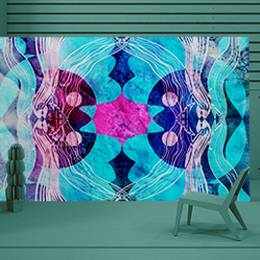 Vinyl Wall Mural - fantastic abstract pattern