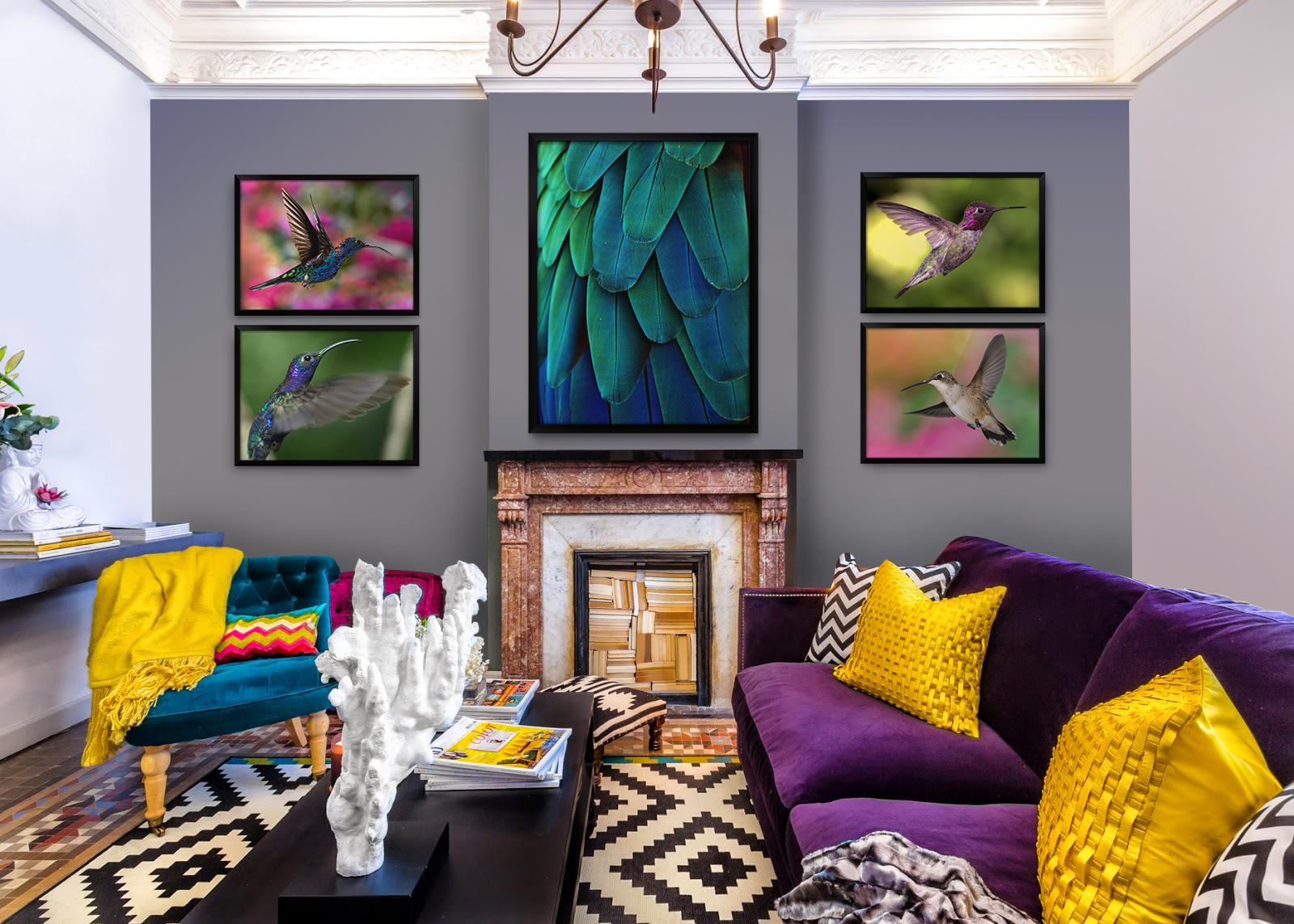 Hummingbird'S flight • Boho - Living room - Animals - Posters