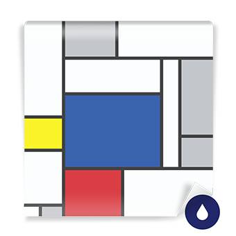 Wall Mural - Mondrian Inspired Art