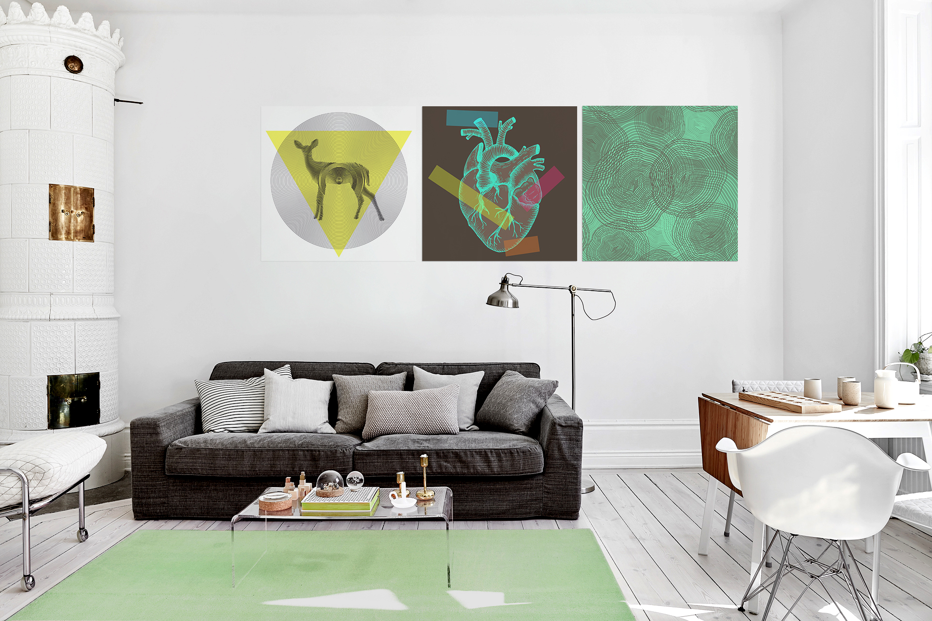 World\'s Geometry • Scandinavian - Living room - Posters - Art ...