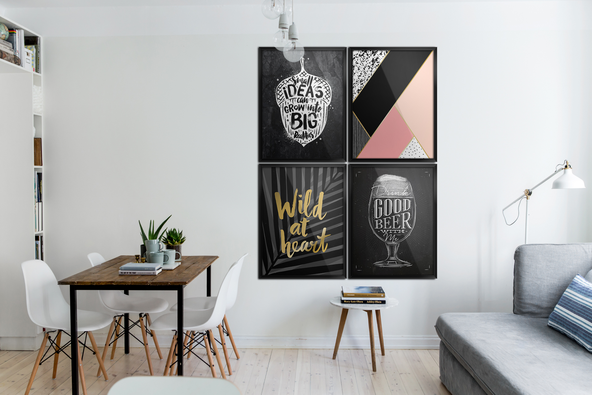 typografische poster skandinavisch wohnzimmer poster. Black Bedroom Furniture Sets. Home Design Ideas