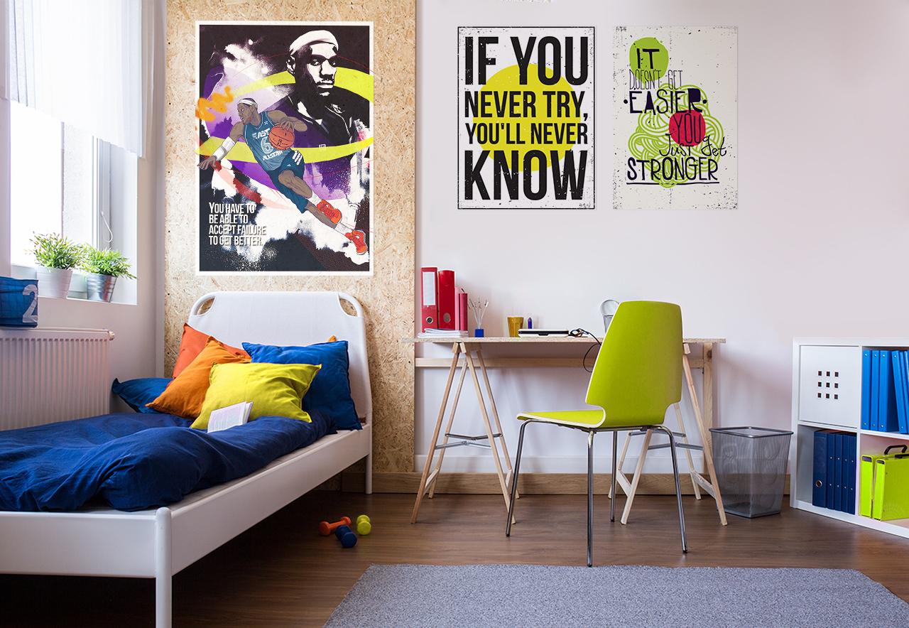 Motywacje James Lebron Współczesny Do Pokoju Młodzieżowego Plakaty Sztuka I Lifestyle Pixers żyjemy By Zmieniać