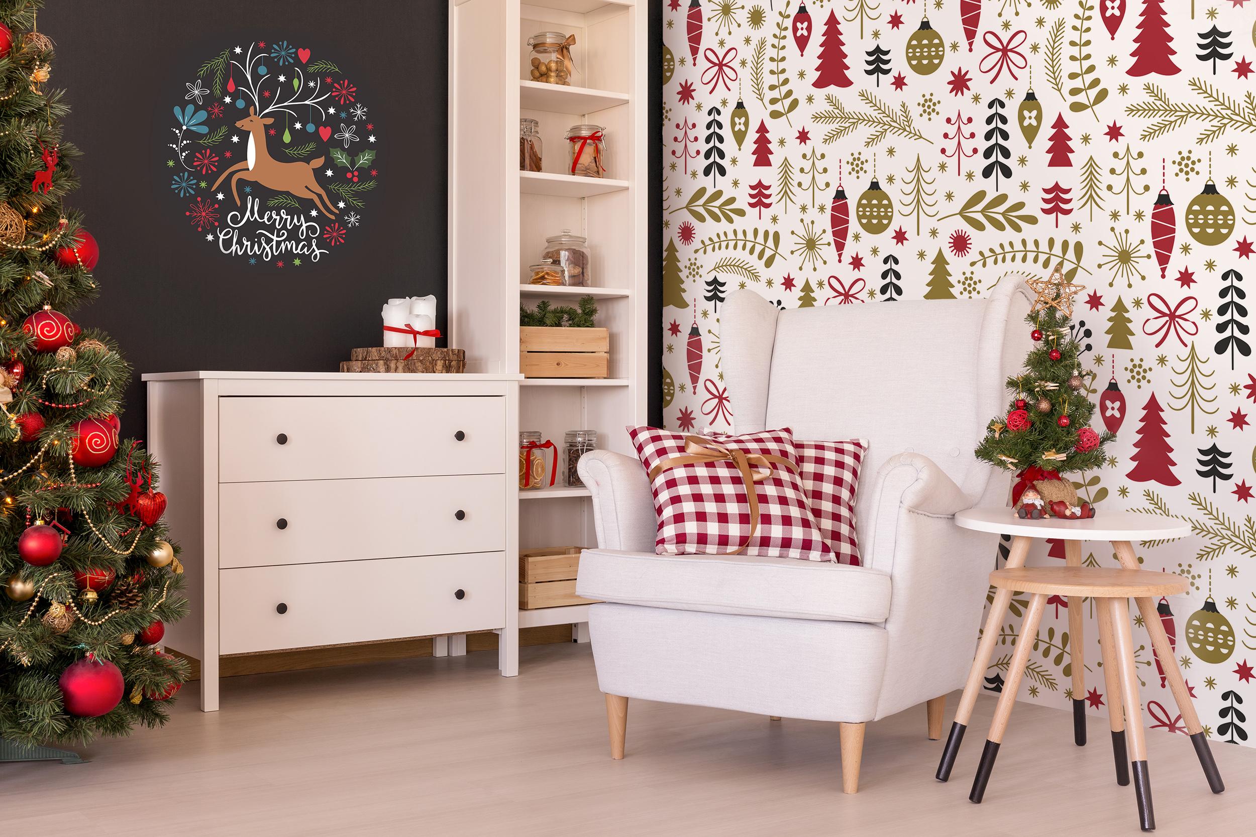 Decorazioni natalizie per soggiorno scandinavo carte for Decorazioni soggiorno