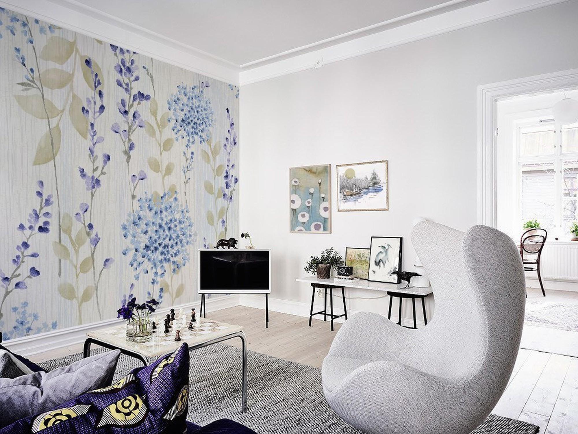 masuria skandinavisch wohnzimmer blumen und pflanzen. Black Bedroom Furniture Sets. Home Design Ideas