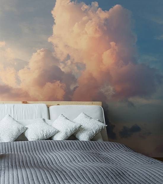 Wall Mural Bedroom - Sunny sky background