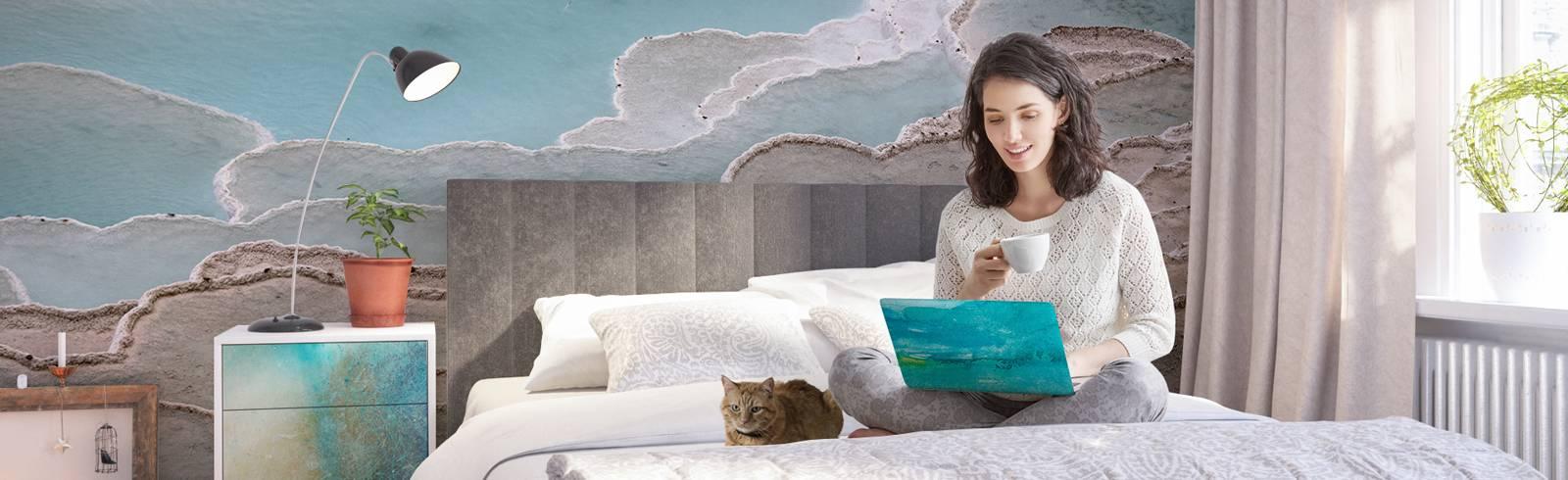 Fotomural y vinilos para el dormitorio - Relajación