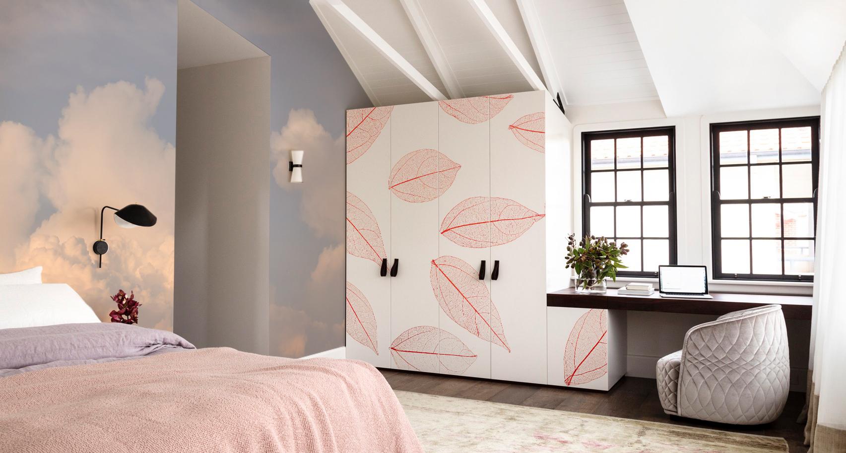 Peaceful Bedroom • Scandinavian - Bedroom - Nature - Flowers and plants - Wall Murals - Stickers