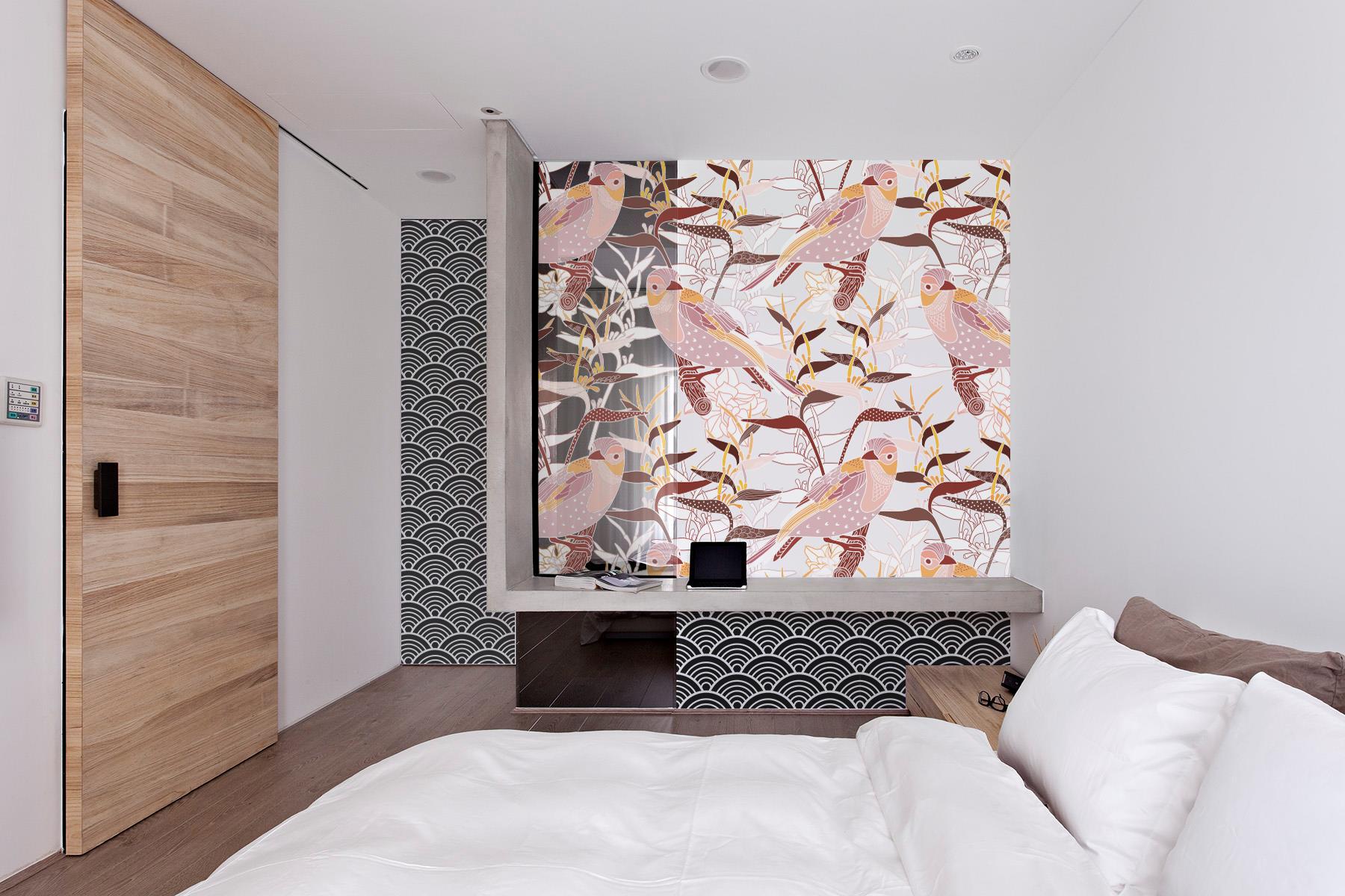 japanische v gel japanisch schlafzimmer fototapeten. Black Bedroom Furniture Sets. Home Design Ideas