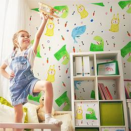 Washable Wall Mural Kids Room - Colorful flight