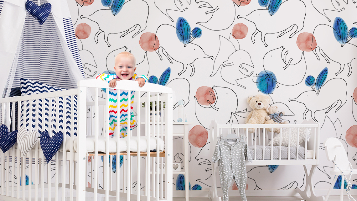 Flying little critters • Contemporary - Kids room - Animals - Wall Murals
