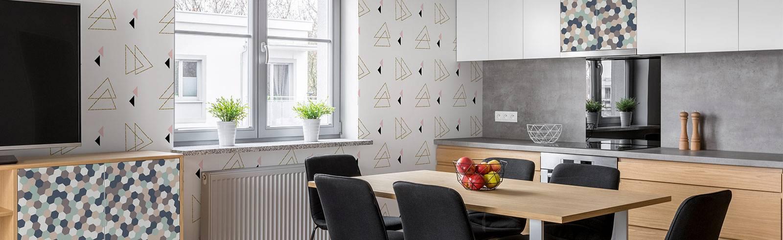 Duvar Resmi ve Çıkartması yemekhane - Zevk Geometrisi